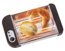 Flach Toaster für Brötchen und Bretzel, 600W