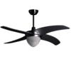 S-LUCE Blower Ventilator mit Beleuchtung E27, Silber s�luce 822258