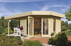 Karibu Premium Gartenhaus Corner