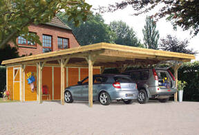 carport mit flachdach carport. Black Bedroom Furniture Sets. Home Design Ideas