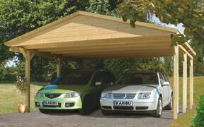 Doppel-Carport Satteldach