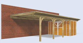 Carport als wandanbau carport for Anlehn carport holz
