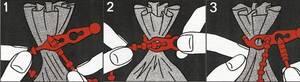 Sack Blitzbinder 18 Stück lösbar