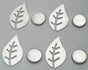 Westfalia UK Magnetic Tablecloth Weights, Leafshaped, Set of 4
