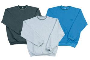 Sweatshirts, melange / royalblau, verschiedene Größen