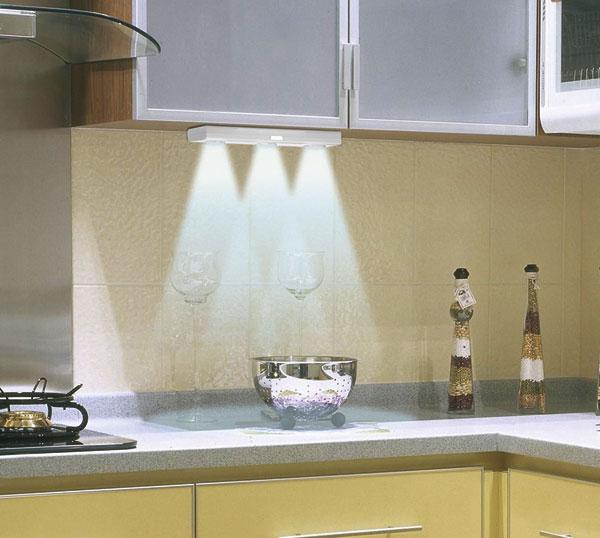 led unterbau leuchte 30 cm 3 schwenkbare strahler 12l ebay. Black Bedroom Furniture Sets. Home Design Ideas