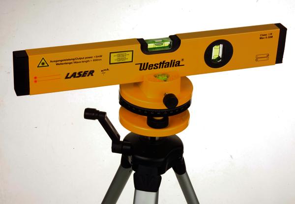 westfalia profi pr zisions laser wasserwaage stativ t ebay. Black Bedroom Furniture Sets. Home Design Ideas
