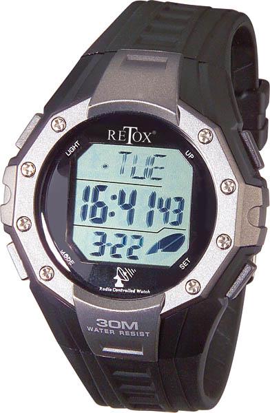 Retox Digital Funkarmbanduhr mit Alarm und 3ATM Wasserdichtigkeit